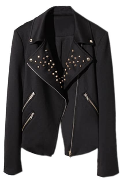 Manual Rivet Black Coat
