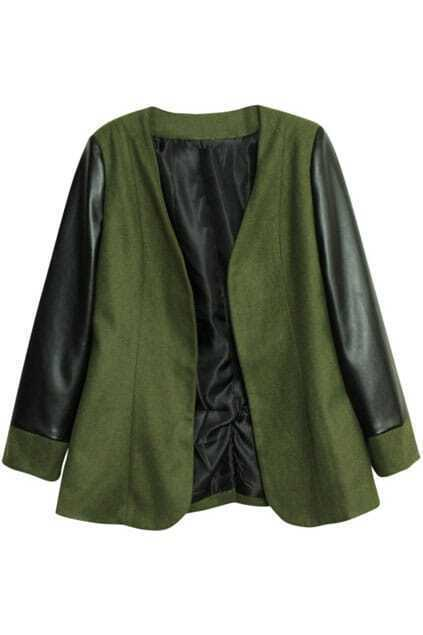Doule Fabric Army Green Coat