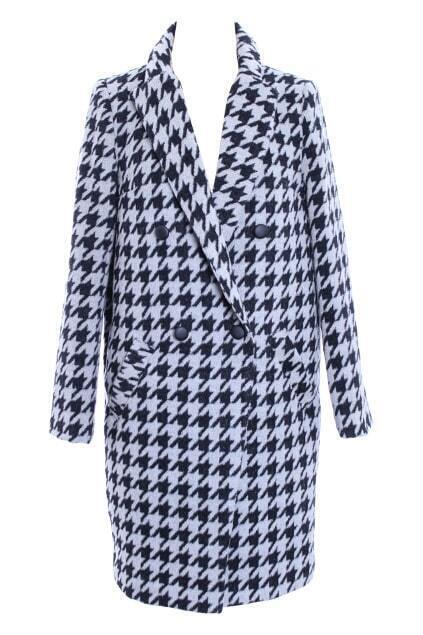 Long Length Houndstooth Coat