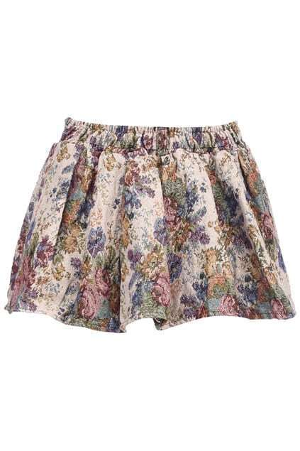 Retro Flowers Embroidery Skirt