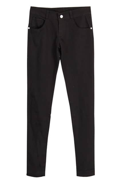 Low Waist Black Pencil Pants