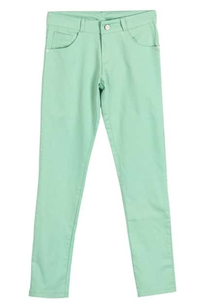 Low Waist Green Pencil Pants