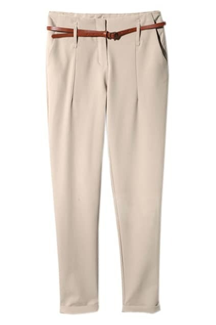 Suit Materials Khaki Pencil Pants