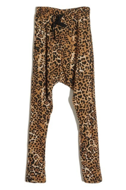 Occident Style Leopard Harem Pants