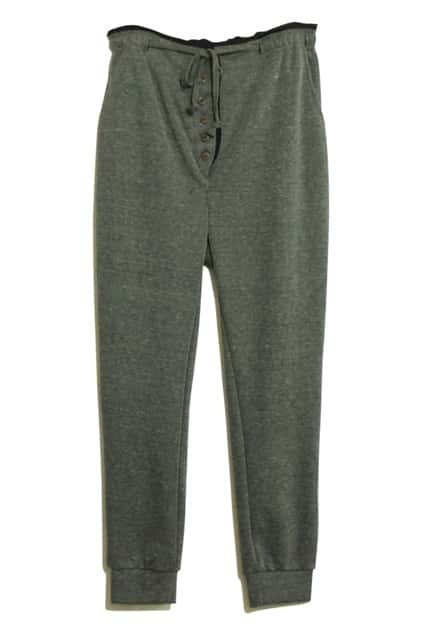 Casual Multi-button Embellished Grey Harem Pants