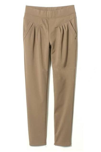 Leisured Pleated Green Khaki Pants