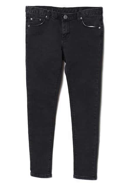 Medium Waist Slim Black Jeans