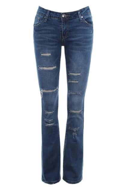 Distressed Vintage Flare Jeans