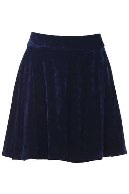 Velvet Blue Skirt