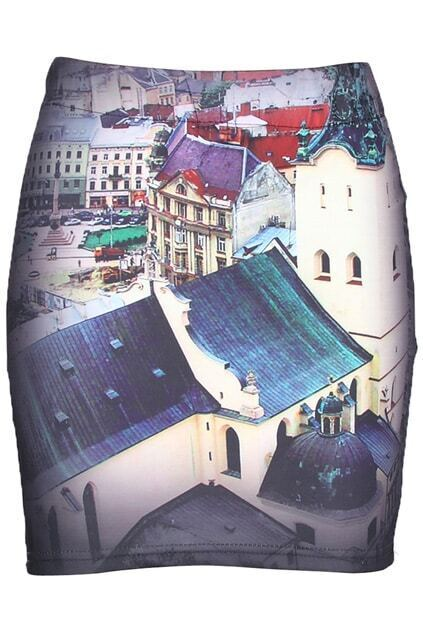 Buildings Painting Skirt