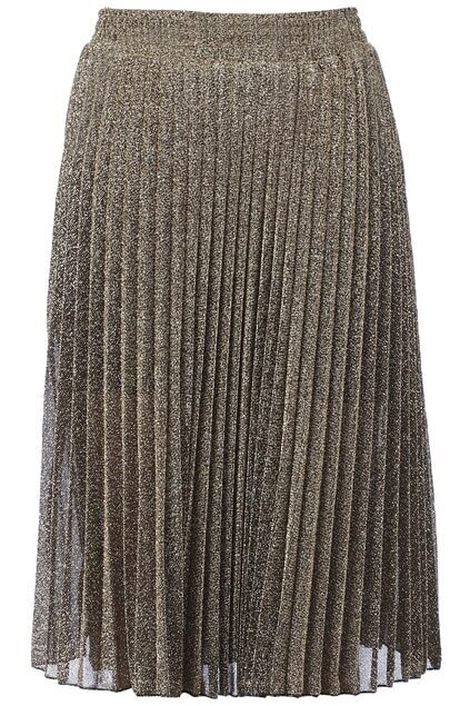 Stretchy Waist Golden Skirt