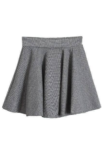 Preppy Style Light Grey Skirt
