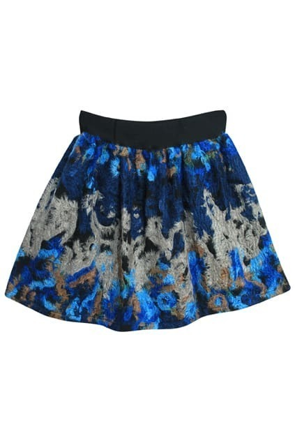 High Waist Blue Skirt