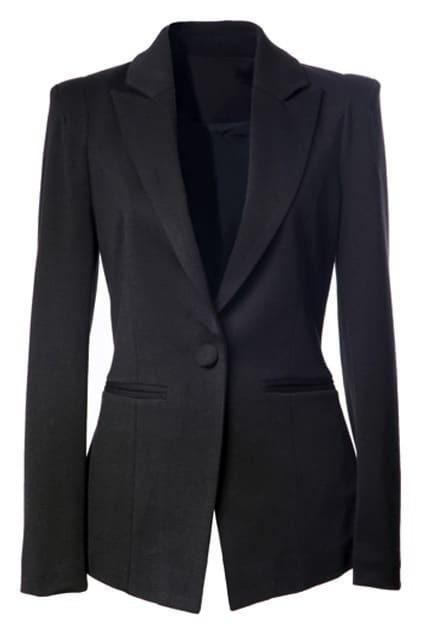 Single Button Black Blazer