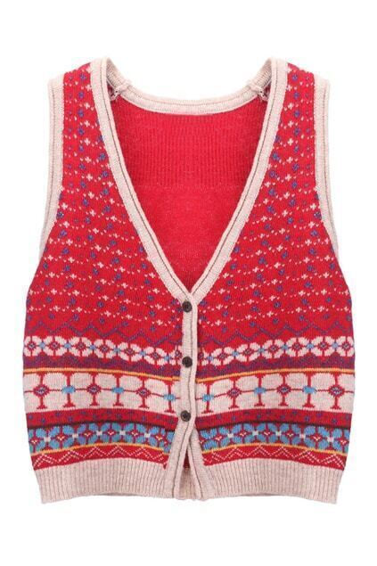 Retro Knitted Vest