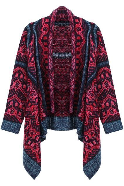 Open Front Rose Cardigan