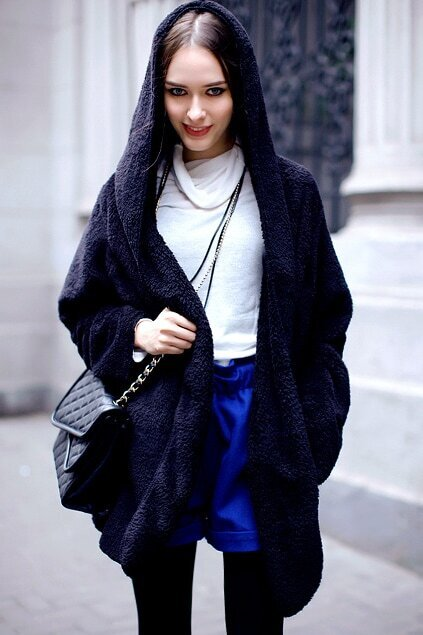Chic Style Oversized Black Coat