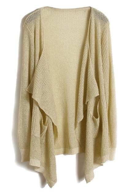 Open Front Spun Gold Apricot Cardigan