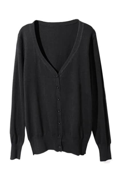 Leather Spliced Black Cardigan