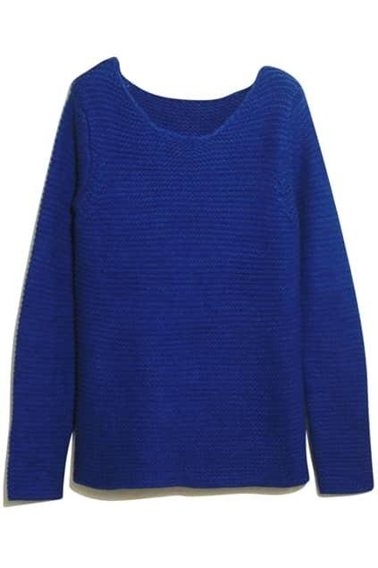 Blue Crochet Yellow Jumper