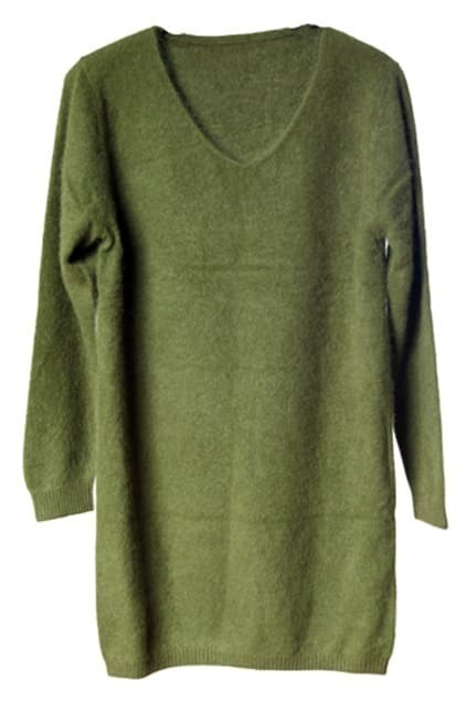 Grass Green Main Mink Cashmere Jumper