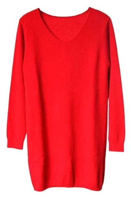 Red Main Mink Cashmere Jumper