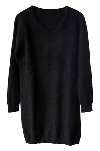Black Main Mink Cashmere Jumper