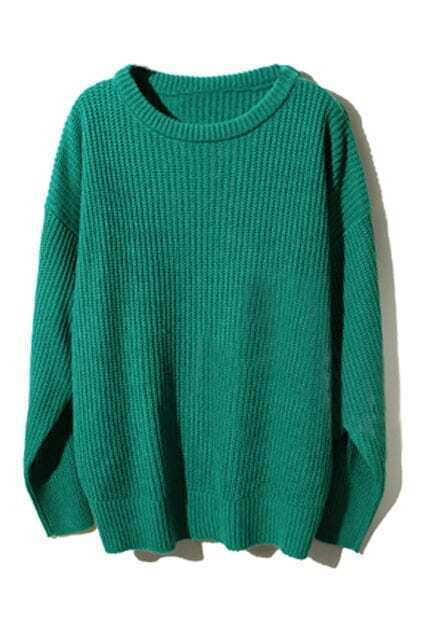 Leisure Style Green Jumper