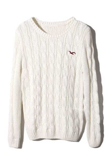 College Wind White Jumper