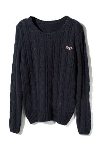 College Wind Navy-Blue Jumper