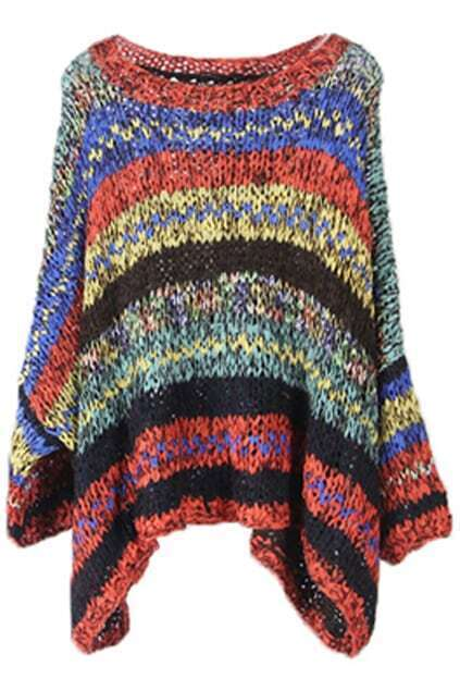 Colorful Stripes Coffee Jumper