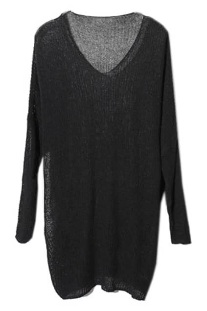 Big Scoop Neck Magyars Black Jumper