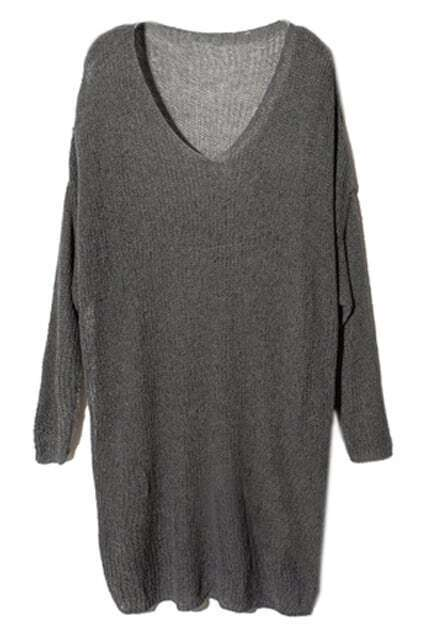 Big Scoop Neck Magyars Dark-grey Jumper