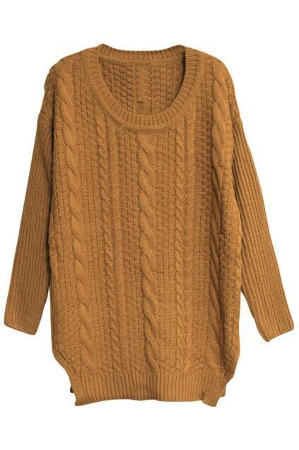 Chunky Cable Knit Yellow Jumper