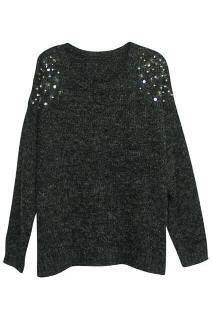 Stars Rived Dark Black Jumper