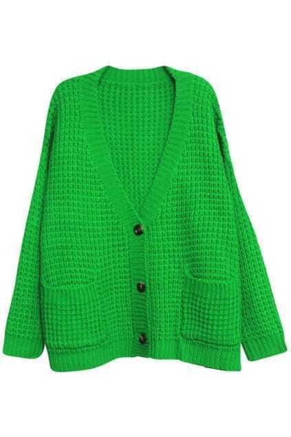 Magyar V-neck Green Cardigan