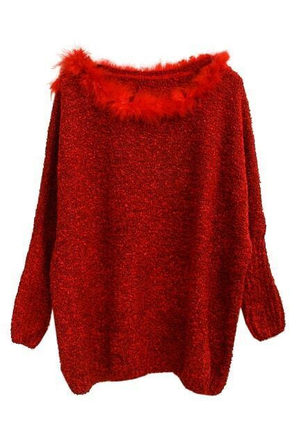 Oversized Magyar Red Jumper