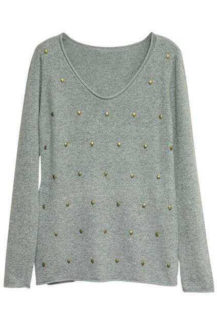Skull Charm Grey Jumper