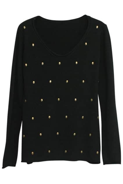 Skull Charm Black Jumper