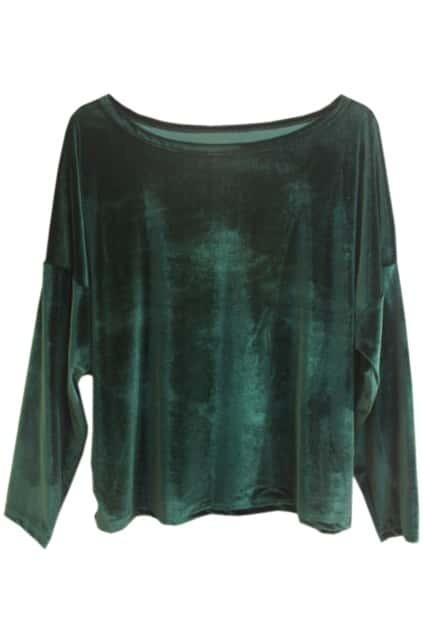 Retro Loose Magyars Green Pullover