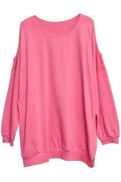 Off Shoulder Rose Pullover