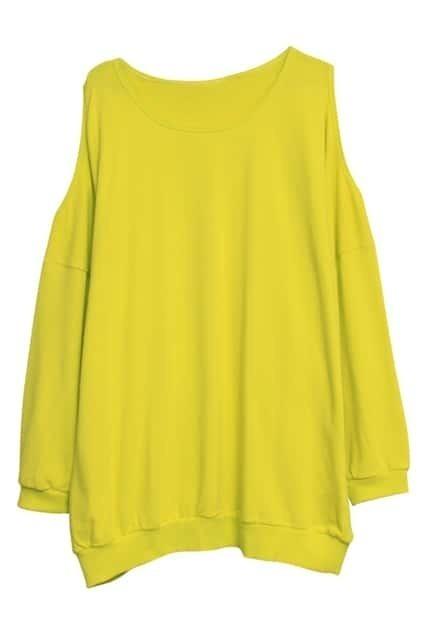 Off Shoulder Lemon Pullover