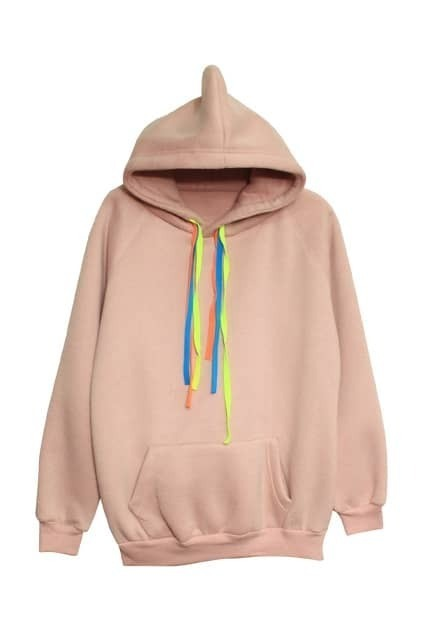Single Pocket Pink Hoodie