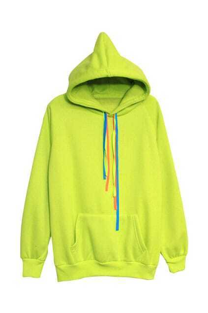 Single Pocket Yellow Hoodie