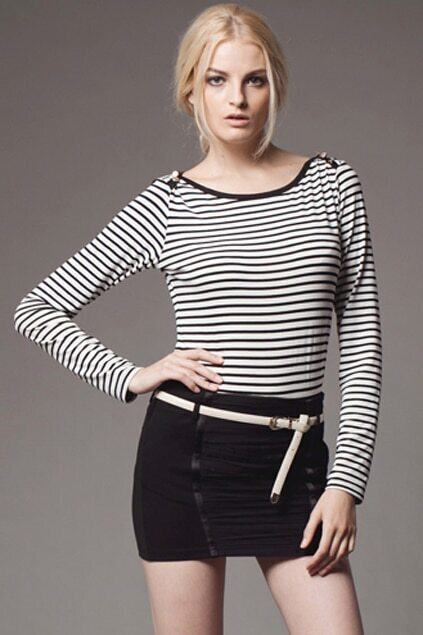 Black And White Strips T-shirt