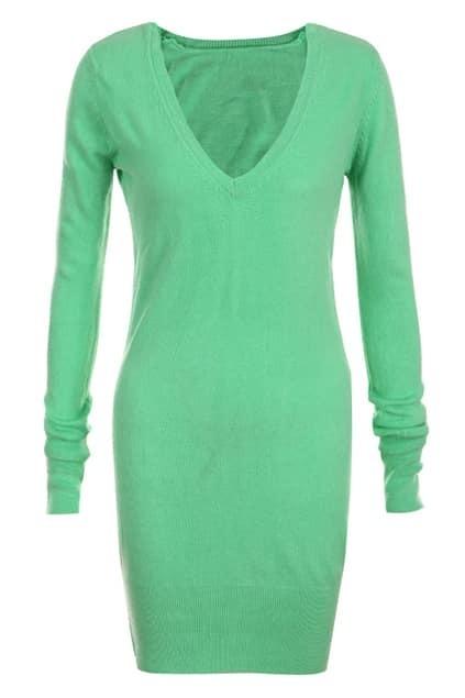 Apple Green Main Knitted Shift Dress