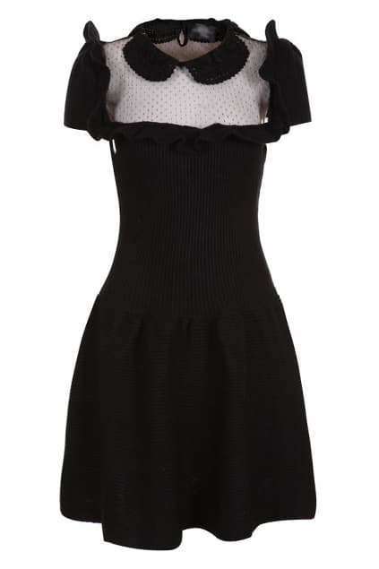Montage Translucent Black Dress