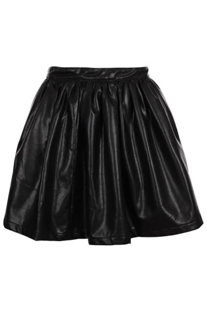 Retro Black Puff Skirt