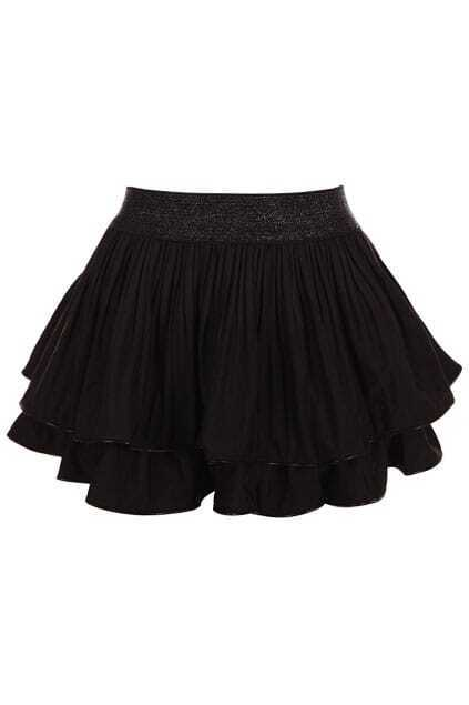 Fake Double-layers Black Skirt