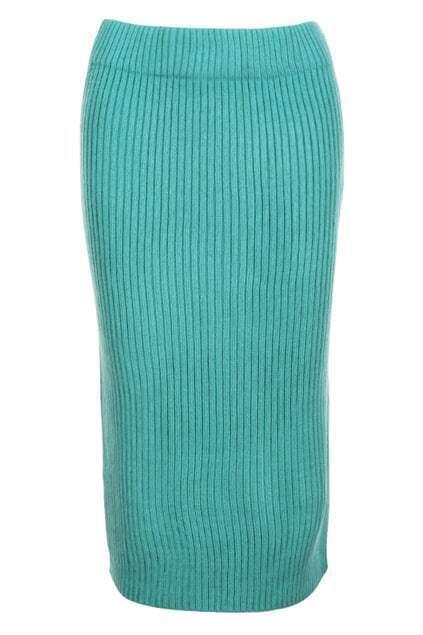 Vent Back Light Blue Skirt